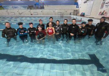 Декабрь 2019 года. Соревнования по подводному спорту. Апноэ-статическое.