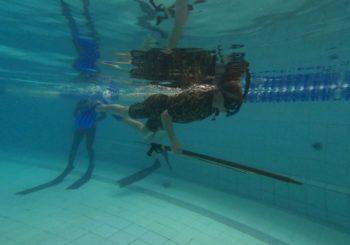 Тренировки команды ПОТОК. Подводная стрельба.